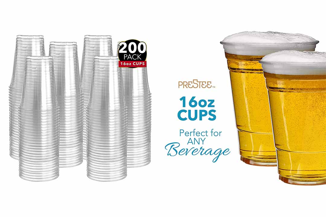 200 Clear Plastic Cups | 16 oz. Plastic Cups
