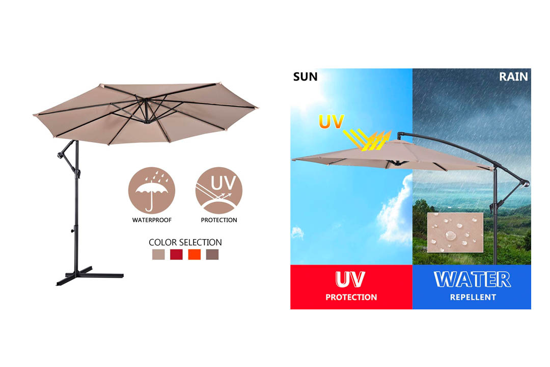 Giantex 10 Ft Offset hanging patio Umbrella
