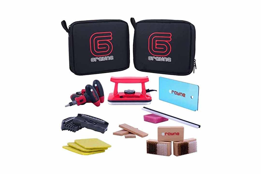 Grayne Deluxe Ski and Snowboard Tuning Kit w/Waxing Iron