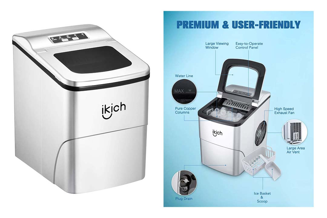 IKICH Portable Ice Maker Machine