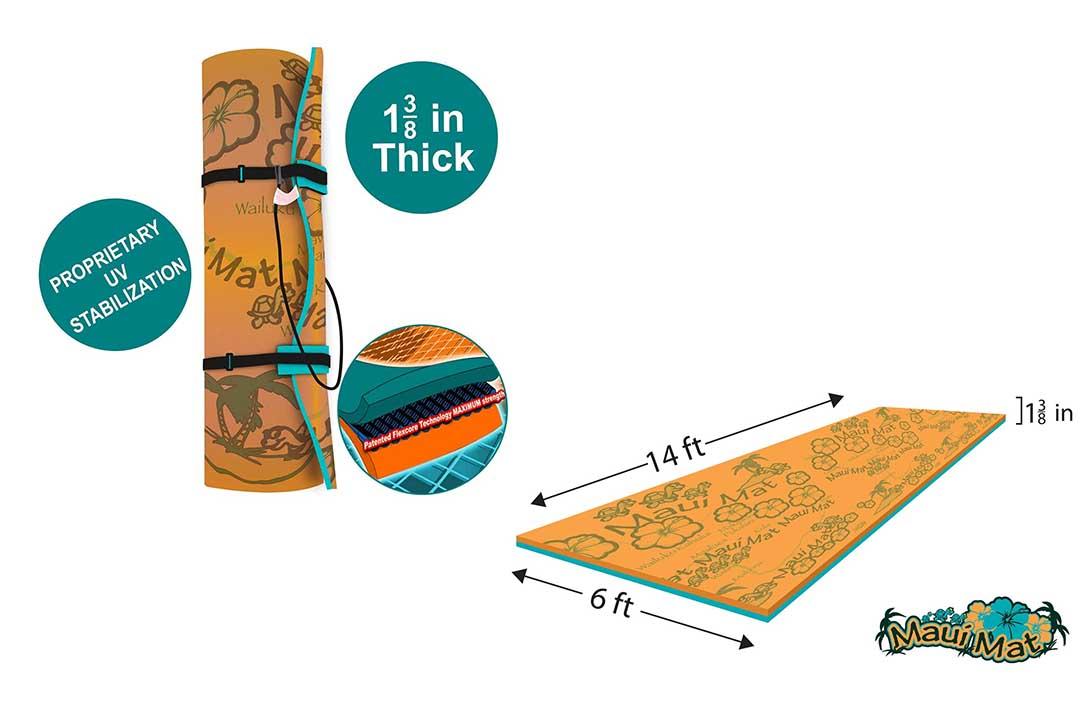 Maui Mat (by Aqua Lily Products: Floating Foam