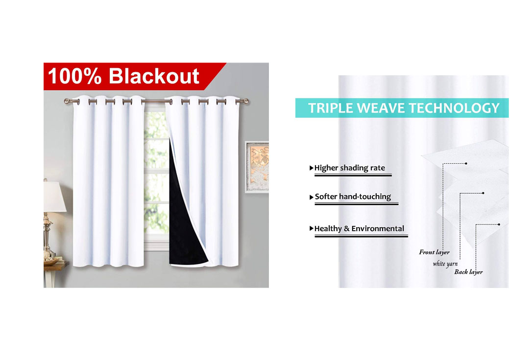 NICETOWN 100 Percent Blackout Lined Curtains