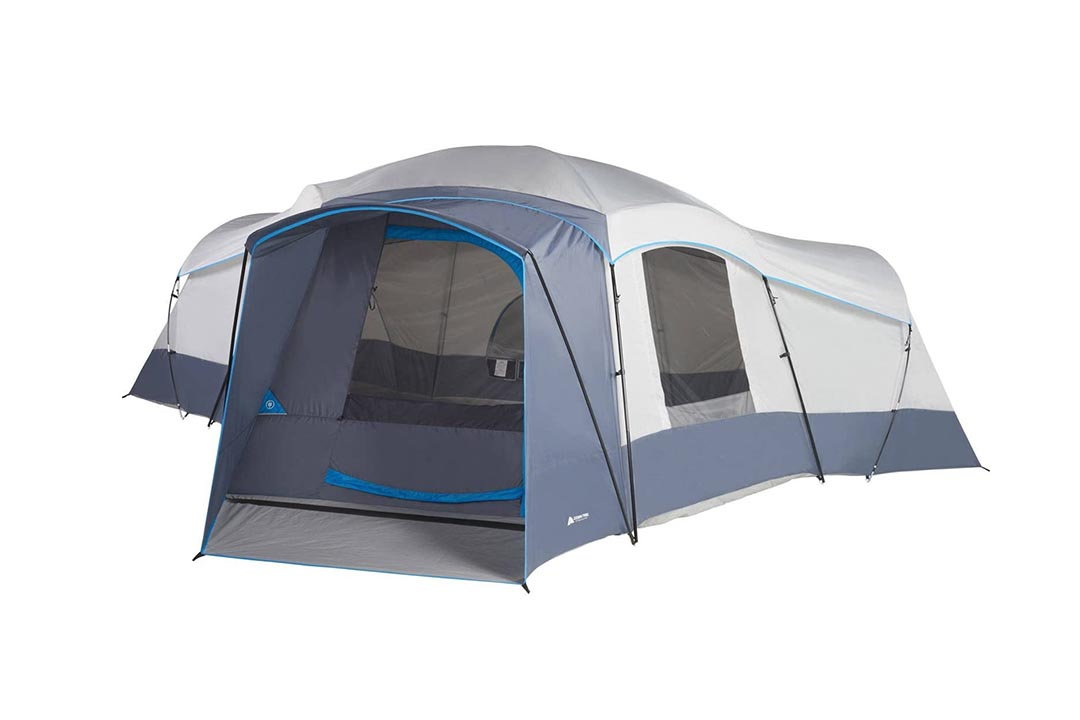 Spacious Family Sized 16-Person Weather Resistant Ozark Trail 23.5' x 18.5' Cabin Camping Tent by Ozark Trail