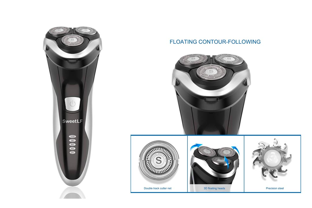 SweetLF Electric Shaver for Men Wet and Dry Waterproof Electric Razor