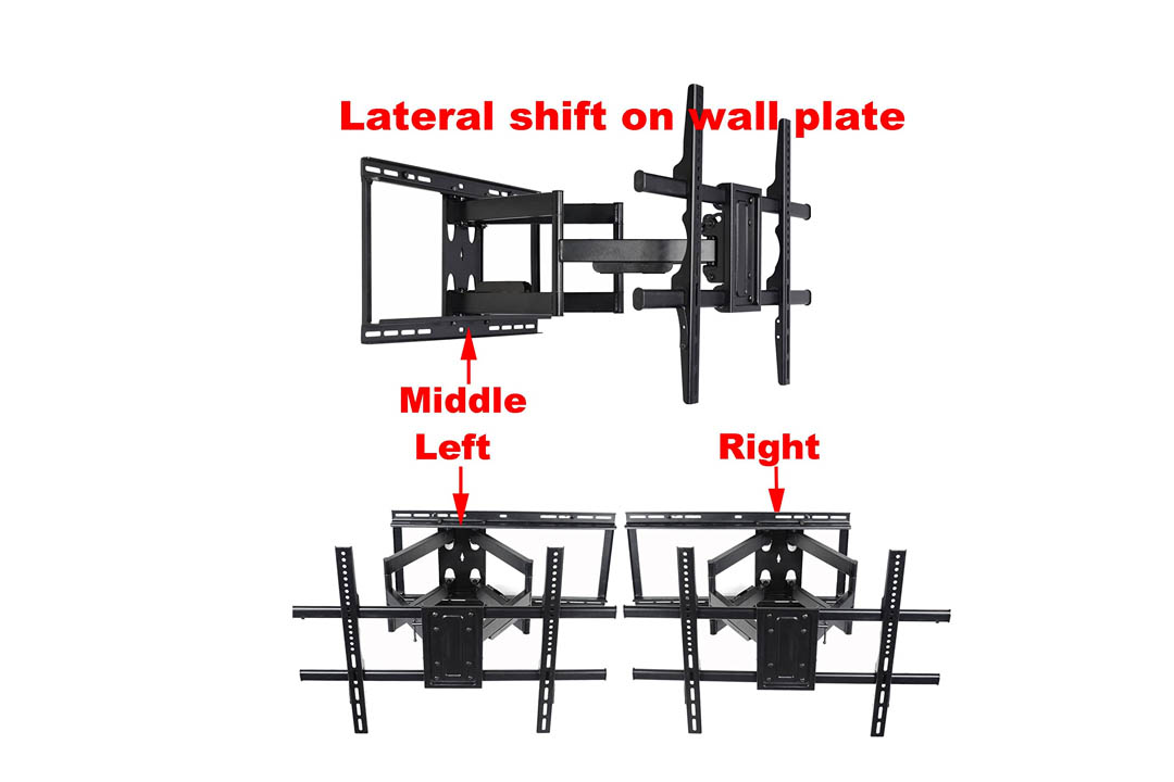 VideoSecu 24 inch Extension Full Motion Swivel Articulating TV Wall Mount Bracket