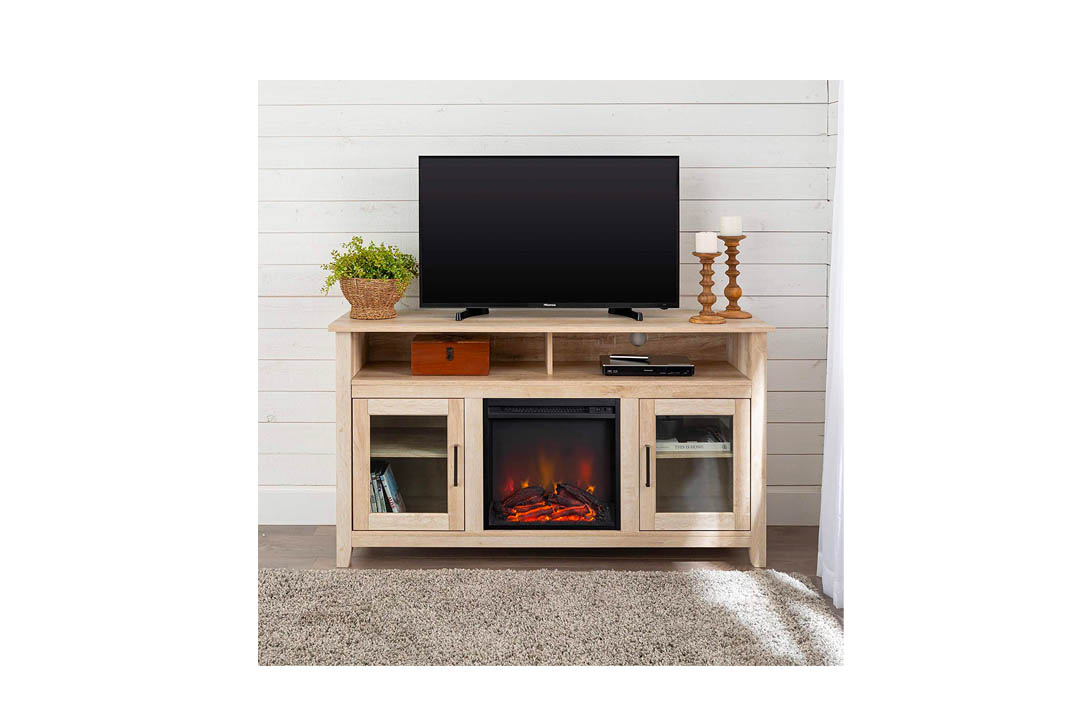 WE Furniture Highboy Fireplace TV Stand.