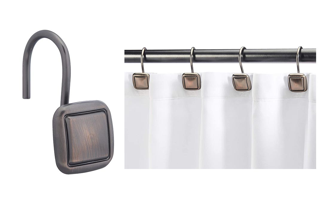 AmazonBasics Shower Curtain Hooks