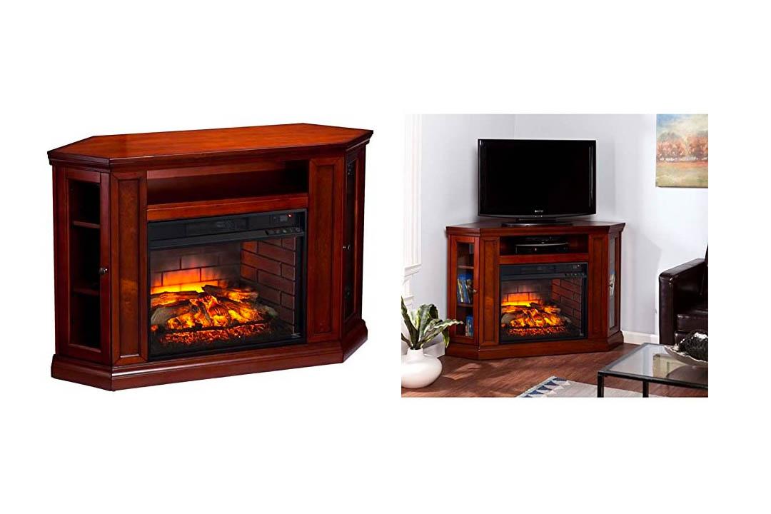 BOWERY HILL Corner Fireplace TV Stand