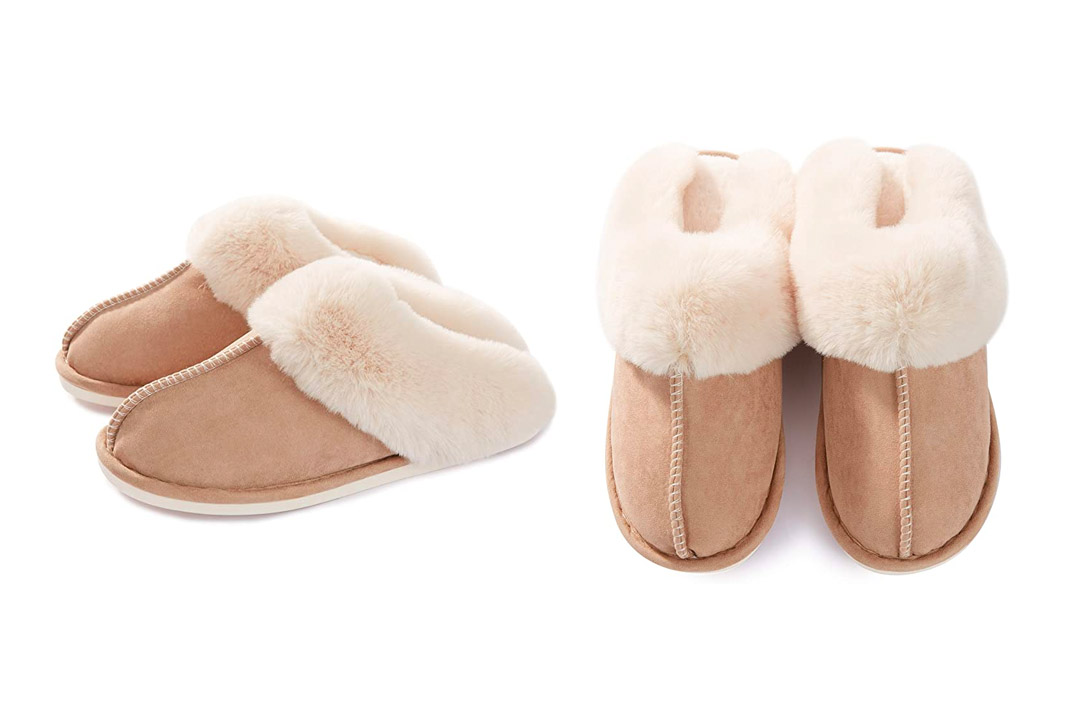Donpapa Womens Slippers Memory Foam Fluffy Warm
