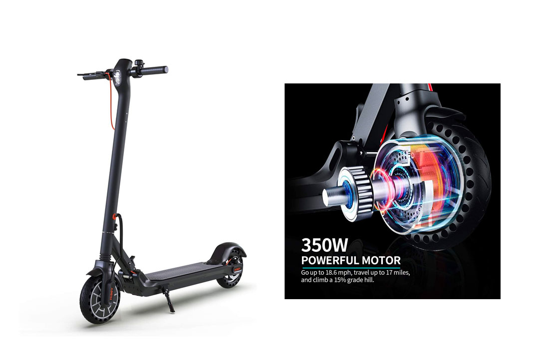 "Hiboy MAX Electric Scooter - 350W Motor 8.5"" Solid Tires"