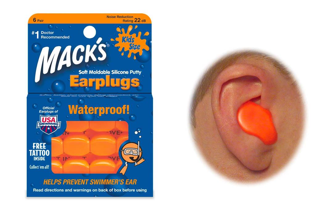 Mack's Pillow Soft Earplugs, Hot Orange, Kid Size