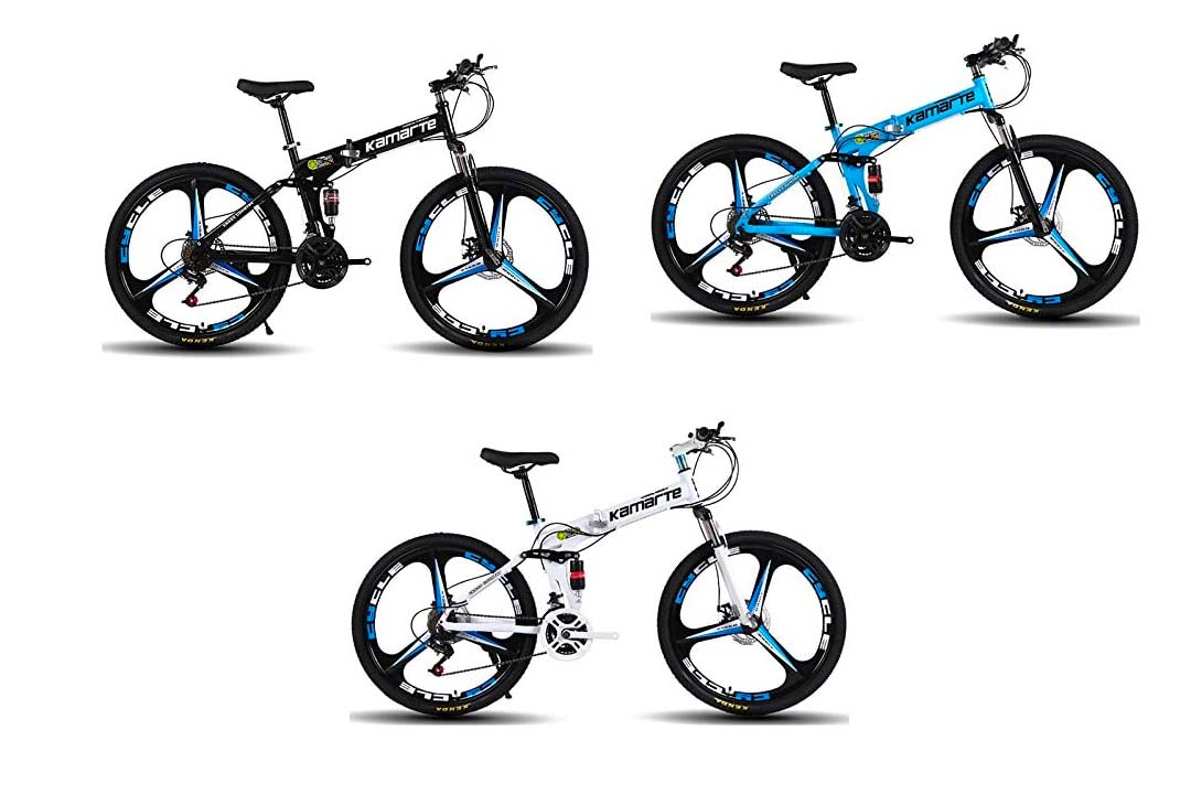 Omeng Shock Speed Folding Mountain Bike Bicycle