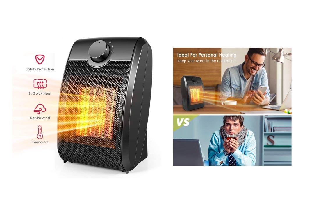 Quiet Mini Electric Ceramic Heater