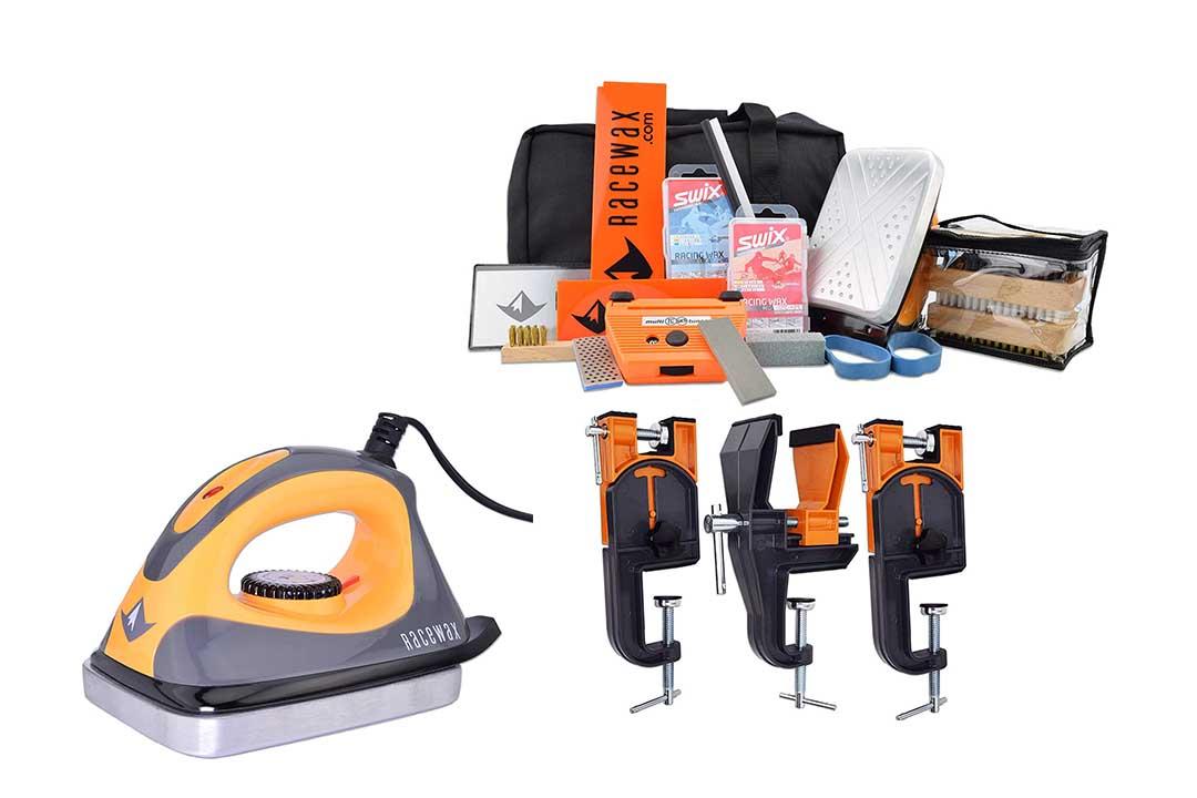 RaceWax Complete Ski Wax Tuning Kit Plus Ski Vise