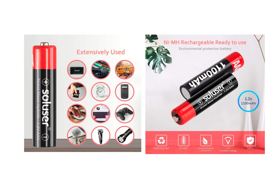 Soluser Rechargeable AAA Batteries