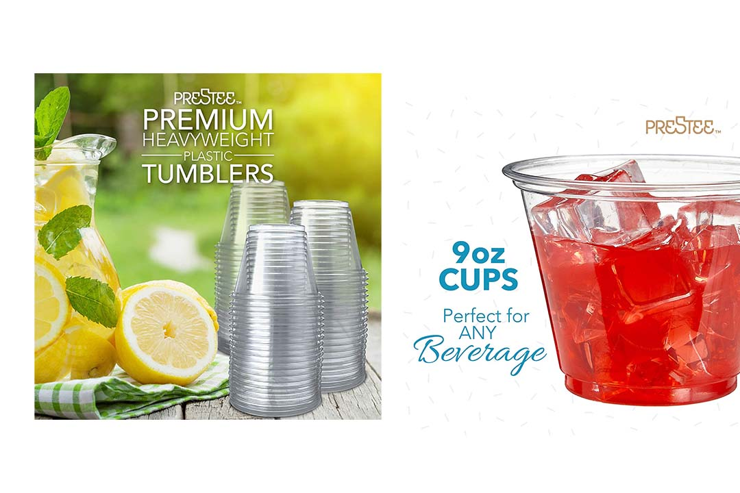 250 Clear Plastic Cups | 9 oz. Plastic Cups