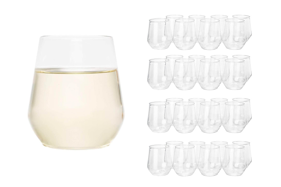 32 count 12 oz Unbreakable Champagne Glasses