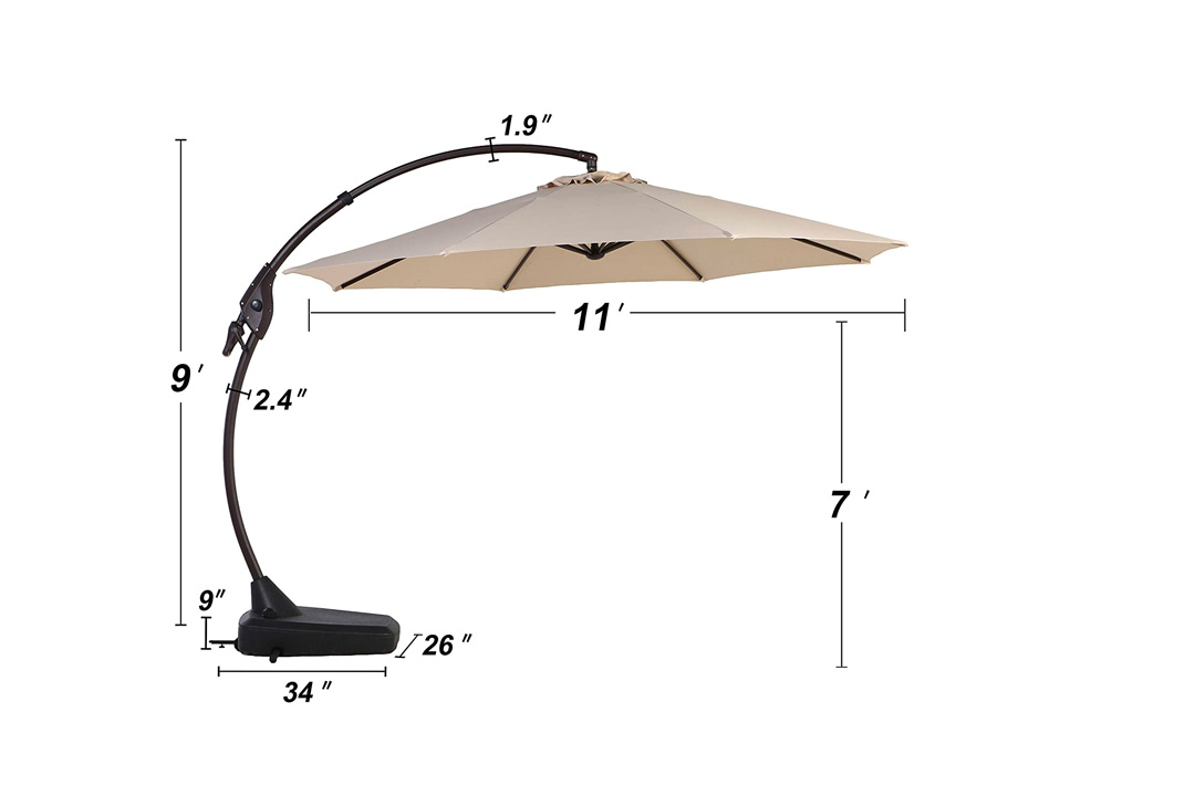 A clumsy 9 Ft Patio Umbrella