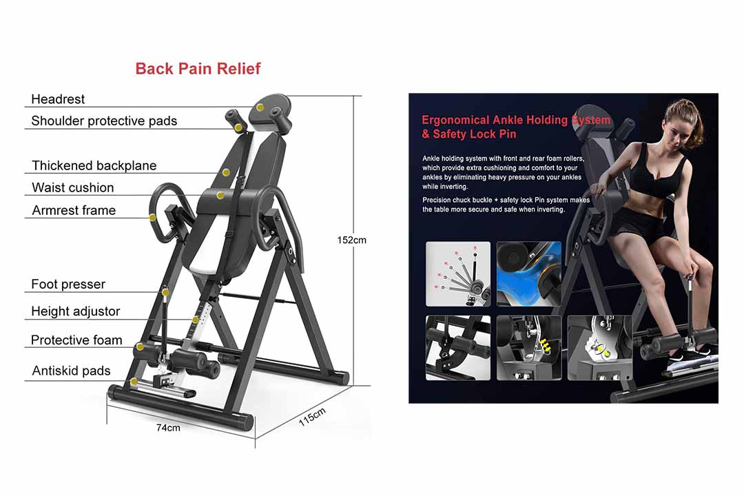 Bigzzia Gravity Heavy Duty Inversion Table