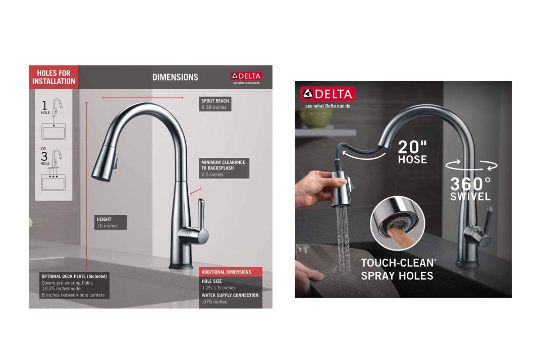 Delta Faucet Essa Solitary
