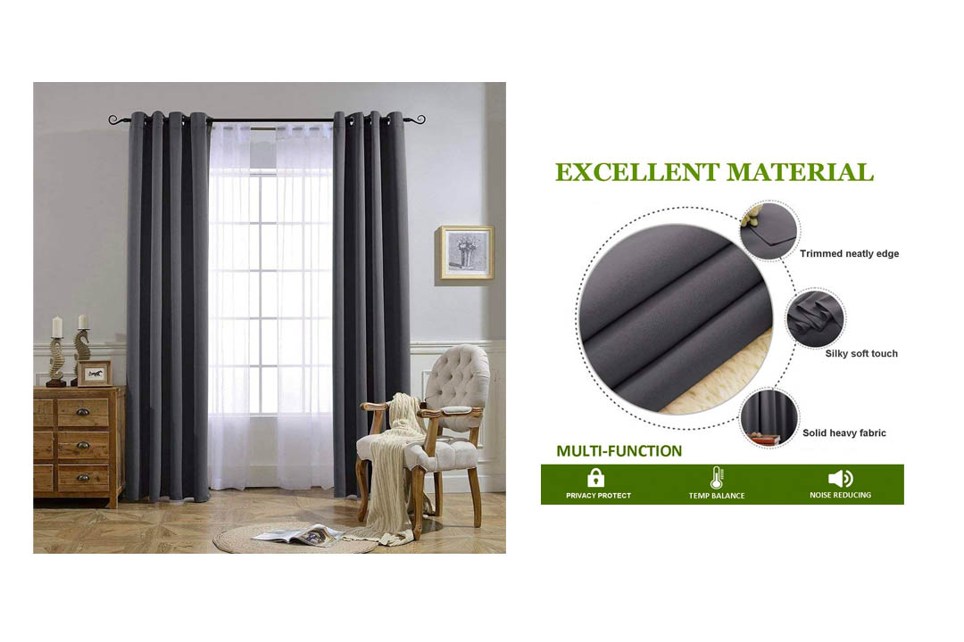 NICETOWN backout Curtain Panels for Bedroom