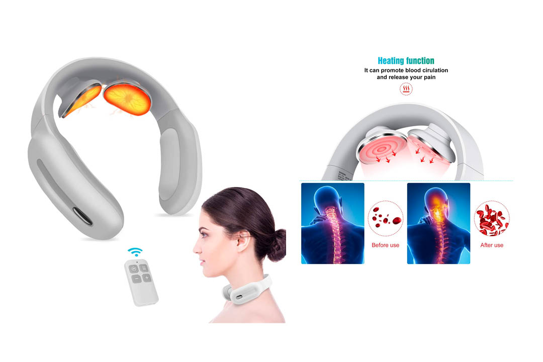 Piroir Portable Neck Massager with Heat Pulse
