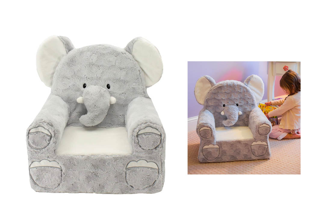 Sweet Seats Grey Elephant Children's Chair