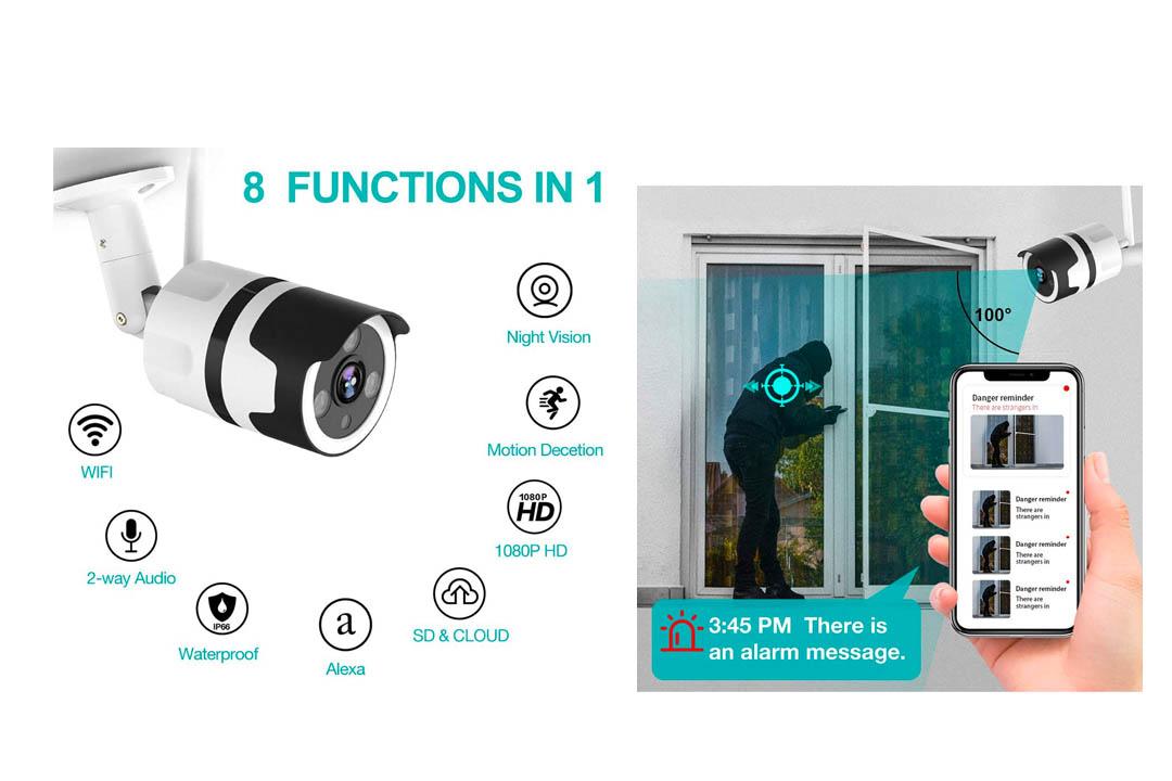 1080P Outdoor Surveillance Cameras with FHD Night Vision