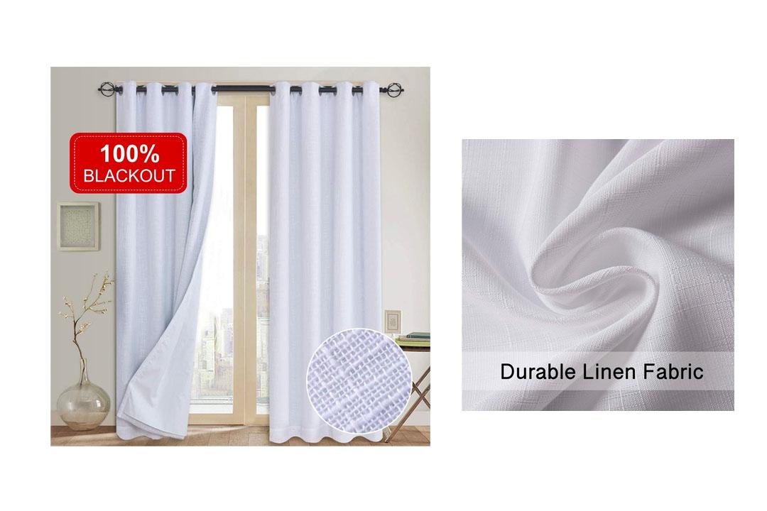 Blackout Curtains with Primitive Linen Look