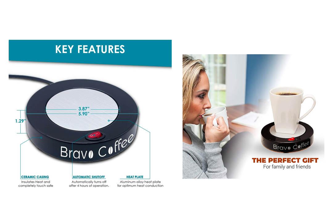 Bravo Line Coffee Mug Warmer with Automatic Shutoff