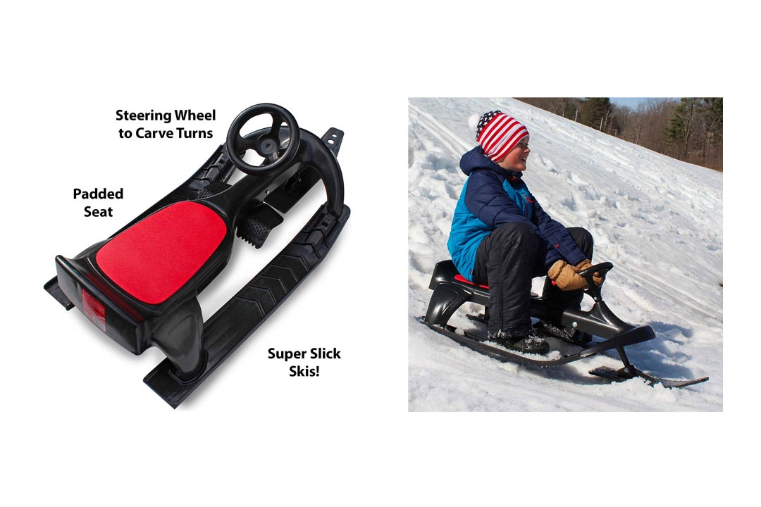 Flexible leaflet PT Blaster Ski Sleigh Steering