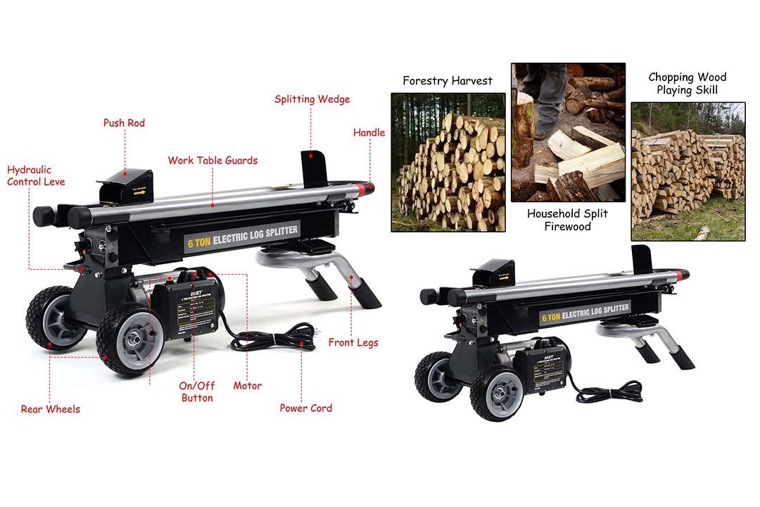 Goplus 6 Ton Hydraulic Electric Log Splitter