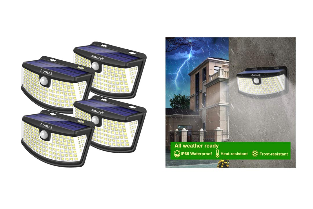New Solar Lights 4Pack Upgraded High Efficiency 36 LEDs
