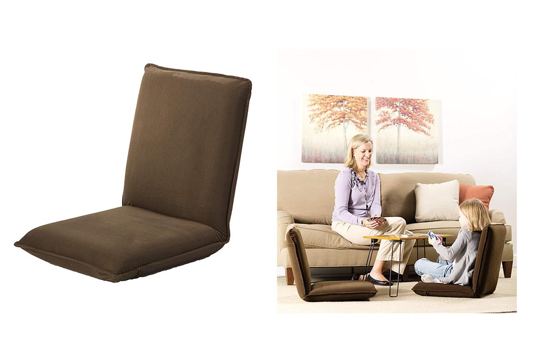 Plow & Hearth Multi-angle Folding Chair Pad with Adjustable Back
