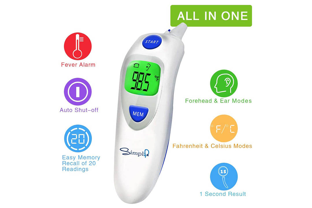SIMPLIFE Baby Forehead Thermometer with Ear Function