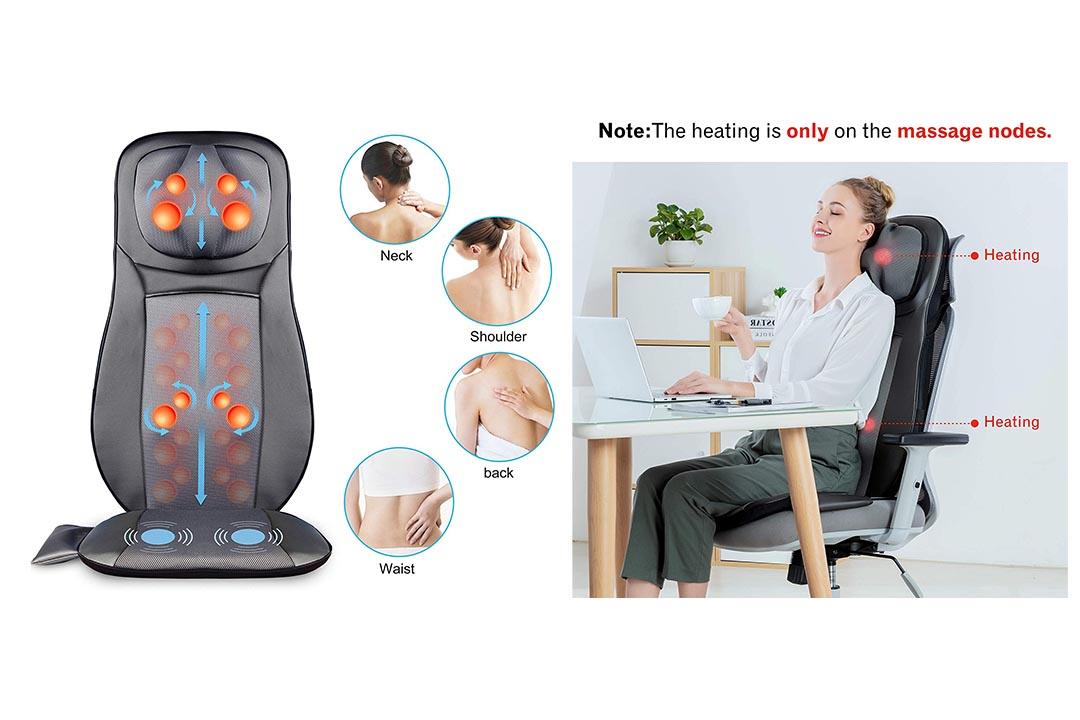 Snailax Shiatsu Neck and Back Massager with Heat