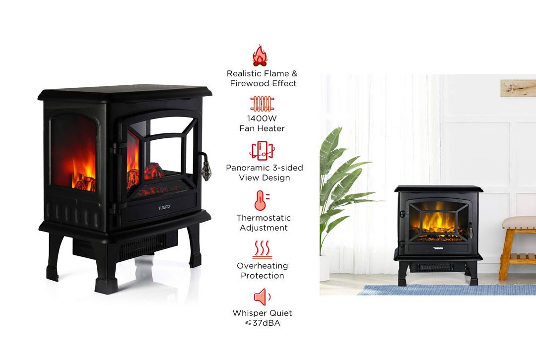"""TURBRO Suburbs 20"""" 1400W Electric Fireplace"""
