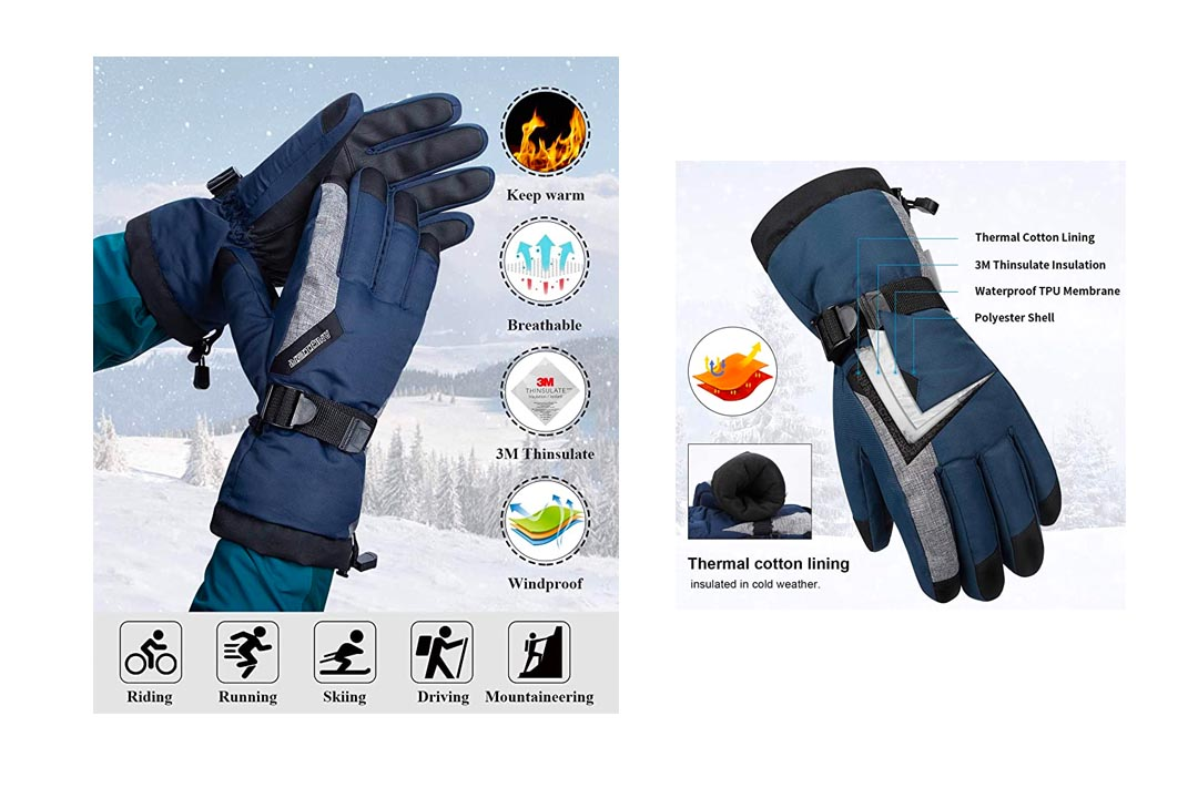 Thinsulate Waterproof Ski Thermal Gloves