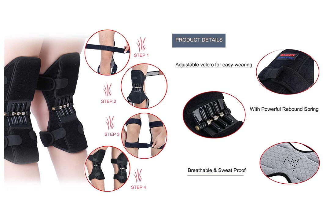 1 Pair Knee Braces Joint Supports, Power Lifts Knee Protection Booster