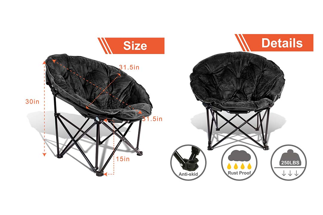 690GRAND Extra Comfort Folding Moon Chair