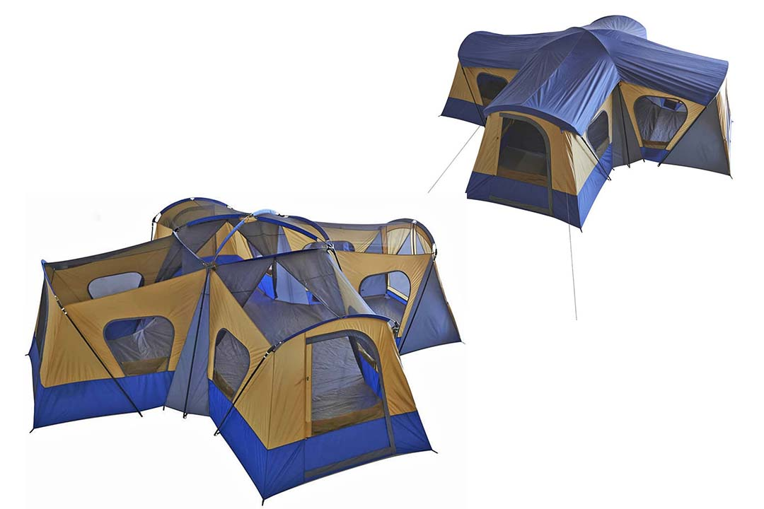 FORTUNESHOP Family Cabin Tent 14 Person Base Camp 4 Rooms Hiking Camping Shelter Outdoor