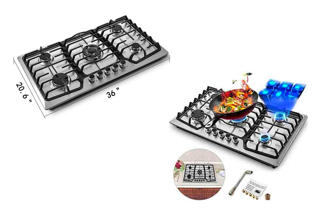 Happybuy 36x21 inches built in Gas Cooktop