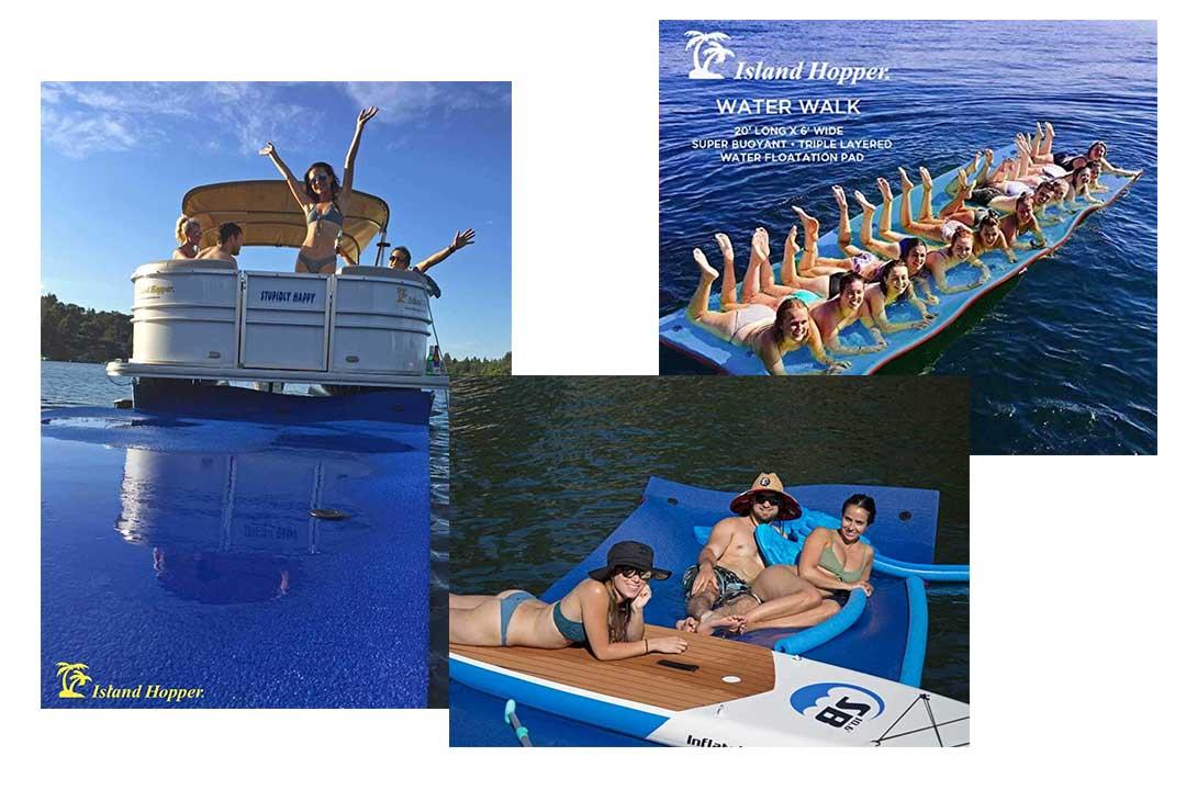 Island Hopper 20 Foot Water Walk Floating Foam Water Mat