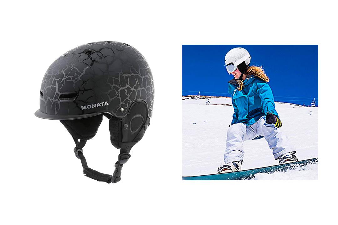 MONATA Adult Ski Snowboard Helmet