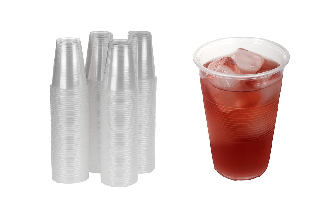 TashiBox 12 oz Clear Plastic Cups