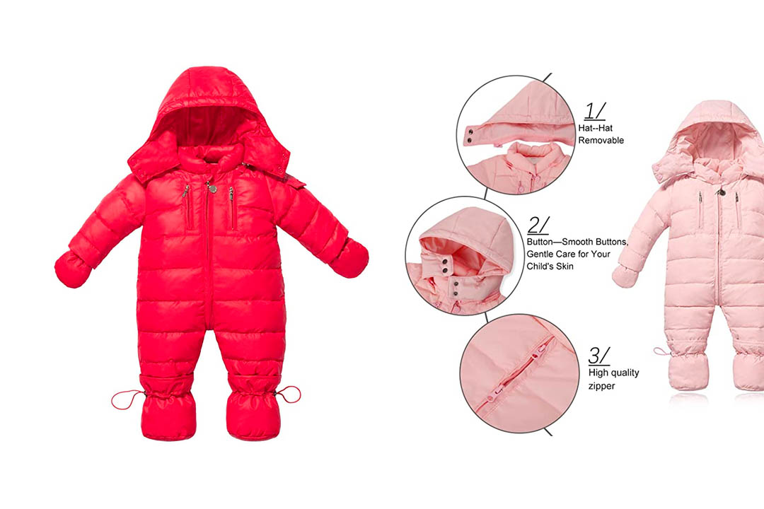 WESIDOM Newborn baby Toddler Girls Boys Snowsuit Hooded Winter Romper