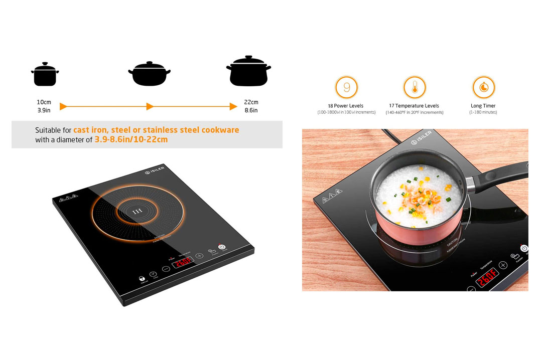 iSiLER 1800W Sensor Touch Electric Induction Cooker
