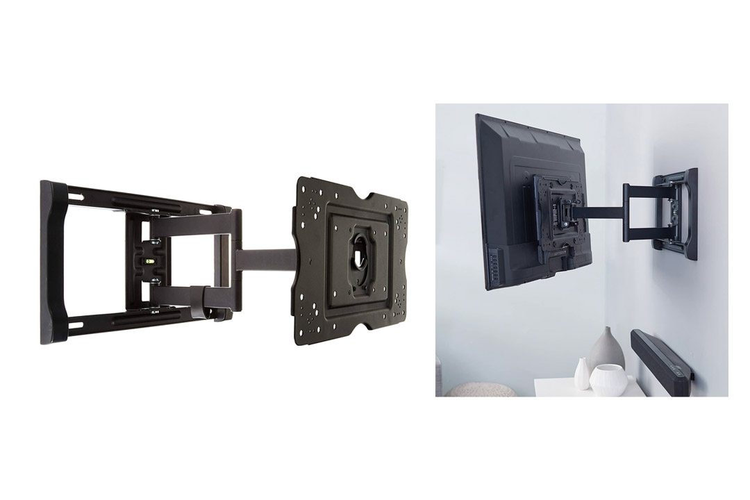 AmazonBasics Heavy-Duty, Full Motion Articulating TV Wall Mount