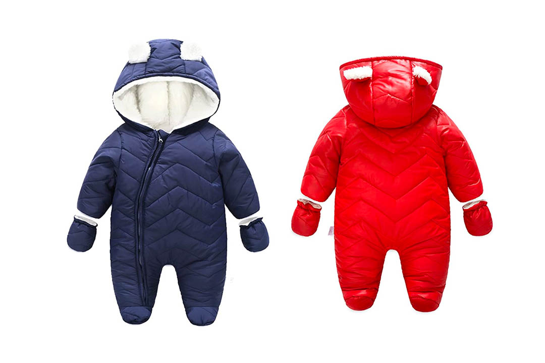 Ding-dong Baby Boy/Girl winter Hooded Puffer Jacket Snowsuit