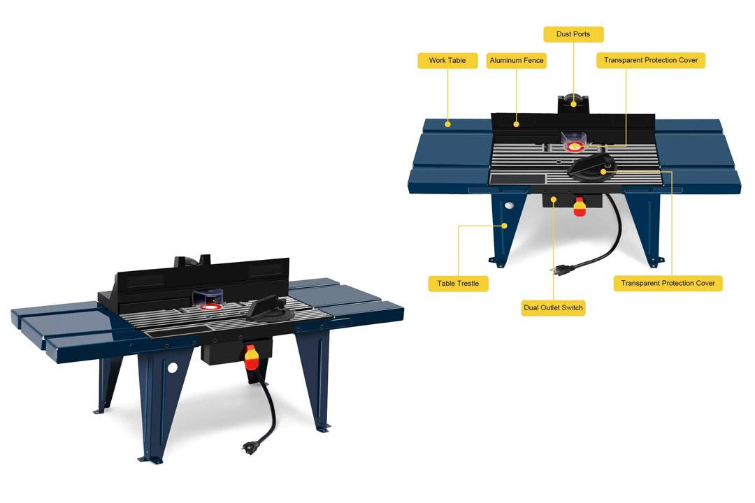 Goplus electric Aluminium Router Table